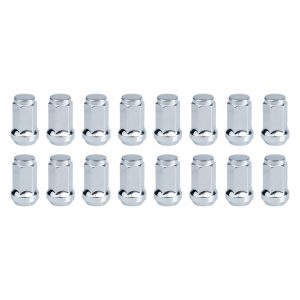 Tusk Tapered Lug Nut 12mm x 1.25mm Thread Pitch Chrome (16pk) for Kawasaki MULE 2510 4X4 1993-2000