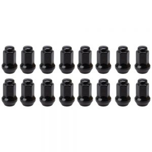 Tusk Tapered Lug Nut 10mm x 1.25mm Thread Pitch w/14mm Head Black (16pk) for Arctic Cat 150 2009-2017