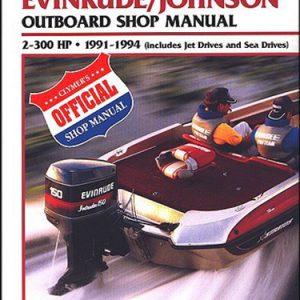 Clymer Repair Manual for Evin/Jhnsn 2-300 HP OB 1991-1994