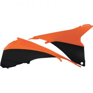 Acerbis Air Box Covers Black/Orange for KTM 125 SX 2013-2015
