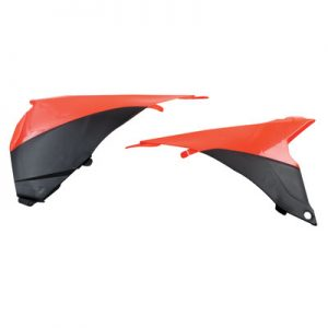 Acerbis Air Box Covers Black/Fluorescent Orange for KTM 125 SX 2013-2015