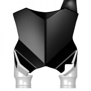 Acerbis Raptor Front Number Plate Black/White for Kawasaki KX250F 2017-2018
