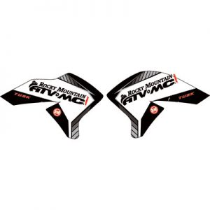 Attack Graphics Traverse Radiator Shroud Decals Grey for Yamaha WR250R 2008-2017