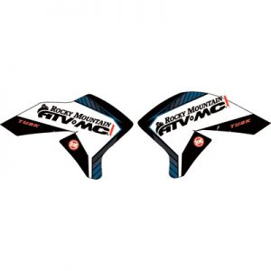 Attack Graphics Traverse Radiator Shroud Decals Blue for Yamaha WR250R 2008-2017