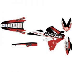Attack Graphics Custom Roost Full Trim Kit Black/Brick Red for Yamaha PW80 Yzinger 1990-2006