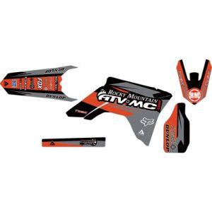 Attack Graphics Custom Roost Full Trim Kit Black/Dark Grey for Honda CR125R 2000-2007