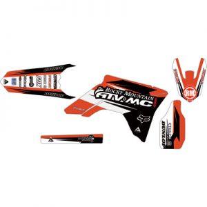 Attack Graphics Custom Roost Full Trim Kit CR Red/Black for Honda CR125R 2000-2007