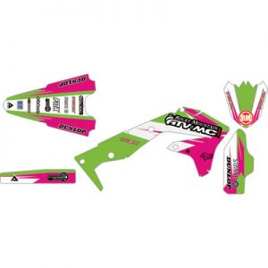 Attack Graphics Custom Roost Full Trim Kit Hot Pink/KX Green for Kawasaki KLX110 2002-2018