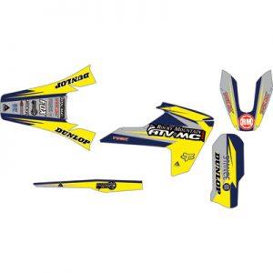 Attack Graphics Custom Roost Full Trim Kit Husky Blue/Husky Yellow for Husqvarna FC 250 2014-2018