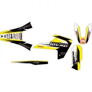 Attack Graphics Custom Roost Full Trim Kit Husky Yellow/Black for Husqvarna FC 250 2014-2018