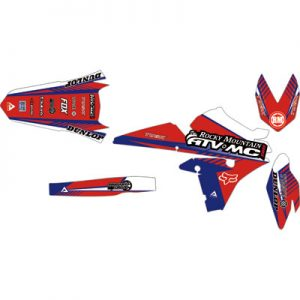 Attack Graphics Custom Turbine Full Trim Kit YZ Blue/Red for Yamaha PW80 Yzinger 1990-2006
