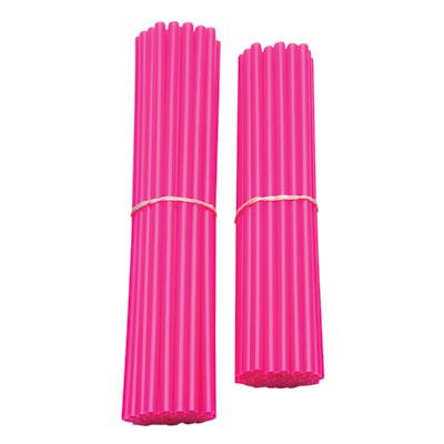 Bykas Dirt Bike Spoke Wraps Neon Pink for Aprilia ETV 1000 Caponord 2002-2007