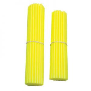 Bykas Dirt Bike Spoke Wraps Neon Yellow for Aprilia ETV 1000 Caponord 2002-2007