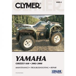 Clymer Repair Manuals for Yamaha GRIZZLY 660 4×4 2002-2008