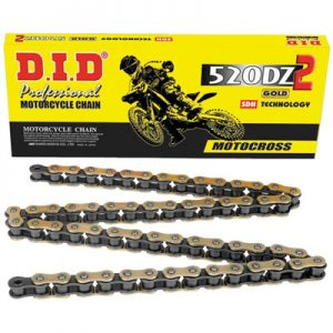 DID 520DZ 2 Gold Chain 520×120 for Aprilia RS 250 1999-2002