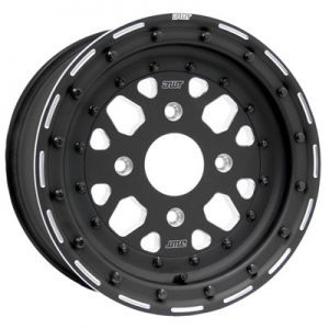 4/110 Douglas Sector Zero Beadlock Wheel 15×6 5.0 + 1.0 Black for Kymco Maxxer 375 2010-2012