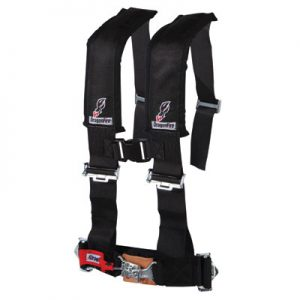 Dragonfire Racing 4-Point H-Style Safety Harness w/Sternum Clip 2″ Black for Arctic Cat WILDCAT 1000i H.O. 2012-2016