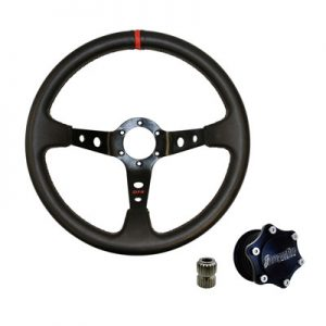 Dragonfire Racing Sport V Quick-Release Steering Wheel Kit for Arctic Cat PROWLER 1000 XT 2015-2017