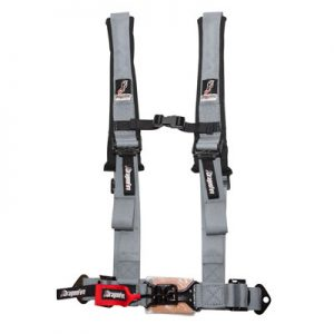 Dragonfire Racing 4-Point H-Style Safety Harness w/Sternum Clip 2″ Driver Side Grey for Yamaha Viking 700 FI 4×4 2016-2018