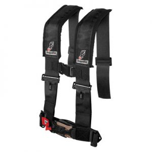 Dragonfire Racing 4-Point H-Style Safety Harness w/Adjustable Sternum Clip 3″ Passenger Side Black for Can-Am Commander 1000 2011-2014