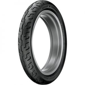 100/90-19 (57H) Dunlop D401 Front Motorcycle Tire Black Wall for BMW F650 1997-1999