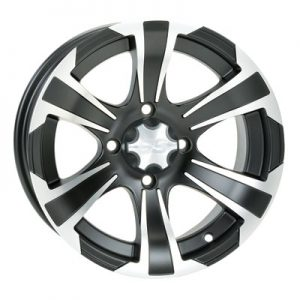 4/110 ITP SS312 Alloy Series Wheel 14×8 5.0 + 3.0 Matte Black for Honda Big Red MUV700 2009-2012
