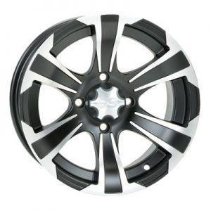 4/115 ITP SS312 Alloy Series Wheel 12×7 5.0 + 2.0 Matte Black for Arctic Cat 1000 LTD 2012