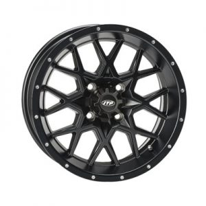 4/115 ITP Hurricane Wheel 15×7 5.0 + 2.0 Matte Black for Arctic Cat 1000 LTD 2012