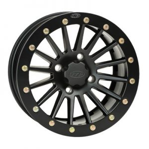 4/110 ITP SD Series Dual Beadlock Wheel 14×7 5.0 + 2.0 Black Beadring for Bombardier Traxter 500 4×4 1999-2005
