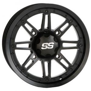 4/156 ITP SS216 Alloy Series Wheel 14×7 4.0 + 3.0 Matte Black for Kawasaki MULE Pro-DX 2016-2017