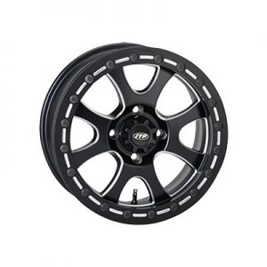 4/115 ITP Tsunami Beadlock Wheel 14×7 5.0 + 2.0 Matte Black for Arctic Cat 1000 LTD 2012