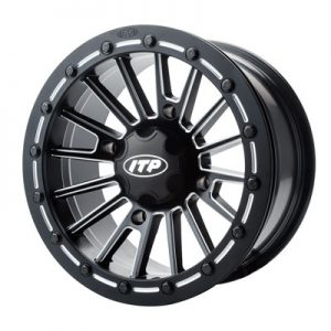 4/110 ITP SD Series Single Beadlock Wheel 15×7 5.0 + 2.0 Matte Black/Milled for Honda Big Red MUV700 2009-2012