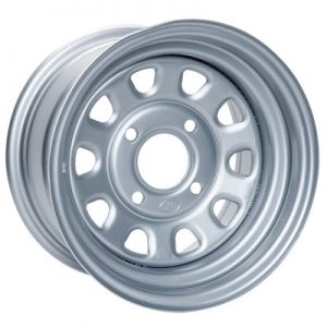 4/156 ITP Steel Wheel 12×7 4.0 + 3.0 Silver for KTM 450 XC 2008-2010