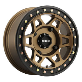 4/156 Method Race Wheels 405 Beadlock Wheel 15×7 5.0 + 2.0 Bronze for Kawasaki MULE Pro-DX 2016-2017