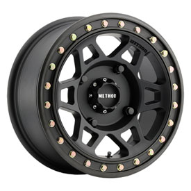 4/156 Method Race Wheels 405 Beadlock Wheel 15×7 5.0 + 2.0 Matte Black for Kawasaki MULE Pro-DX 2016-2017