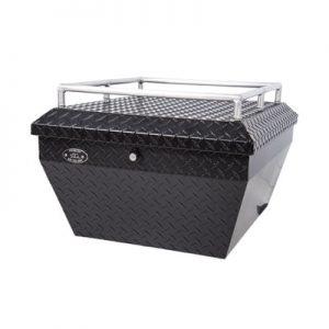 Ryfab Aluminum Cargo Box with Top Rack Black for Polaris RANGER RZR XP 1000 2014-2018