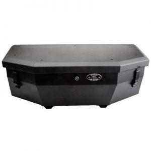 Ryfab Aluminum Cargo Box with Top Rack Black for Can-Am Maverick X3 Turbo R 2017-2018