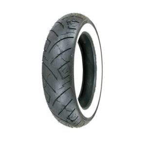 130/90B-16 (73H) Shinko 777 H.D. Rear Motorcycle Tire White Wall for Harley-Davidson CVO Dyna Wide Glide FXDWGSE 2001
