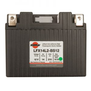 Shorai Lithium-Iron Battery LFX14A2-BS12 for Can-Am DS450 2008-2012