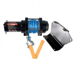 Tusk Winch with Synthetic Rope and Mount Plate 3500 lb. for Can-Am Outlander 400 EFI 2009-2014