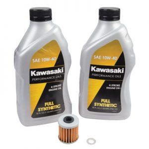 Tusk Oil Change Kit With Kawasaki Full Synthetic 10W-40 for Kawasaki KX250F 2004-2019