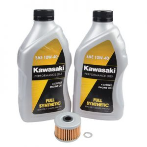 Tusk Oil Change Kit With Kawasaki Full Synthetic 10W-40 for Kawasaki KX450F 2006-2015