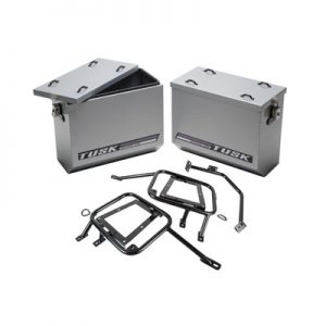 Aluminum Panniers with Pannier Racks Large Silver for Honda Africa Twin CRF1000L 2016-2017