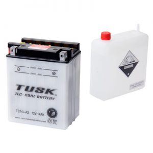 Tusk Tec-Core Battery with Acid TB14LA2 for Arctic Cat 250 2×4 1999-2005