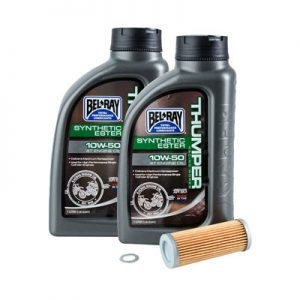Tusk Oil Change Kit With Bel-Ray Thumper Full Synthetic 10W-50 for Husaberg FE 250 2013-2014