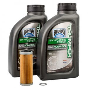 Tusk Oil Change Kit With Bel-Ray Thumper Full Synthetic 10W-50 for KTM 250 EXC-F 2017-2018