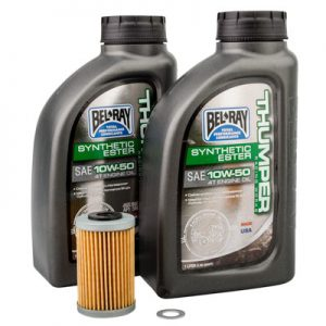 Tusk Oil Change Kit With Bel-Ray Thumper Full Synthetic 10W-50 for KTM 250 SX-F 2005-2012