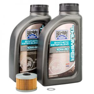 Tusk Oil Change Kit With Bel-Ray Thumper Synthetic Blend 10W-40 for Honda CRF250L 2013-2016