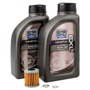 Tusk Oil Change Kit With Bel-Ray EXL 10W-40 for Suzuki RMX450Z 2010