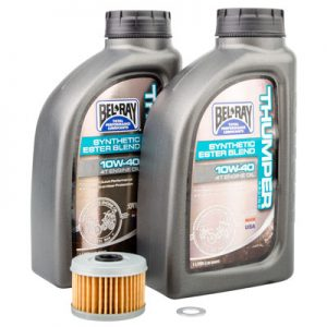 Tusk Oil Change Kit With Bel-Ray Thumper Synthetic Blend 10W-40 for Honda TRX 300EX 1993-2008